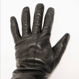Coach leather gloves with wool inside